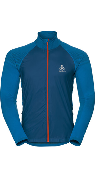 Odlo Velocity Element Jacket Men blue opal/orangeade